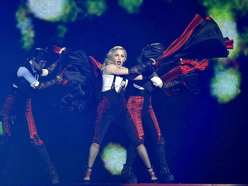 Singer Madonna performs at the BRIT music awards at the O2 Arena in Greenwich, London. (Reuters)