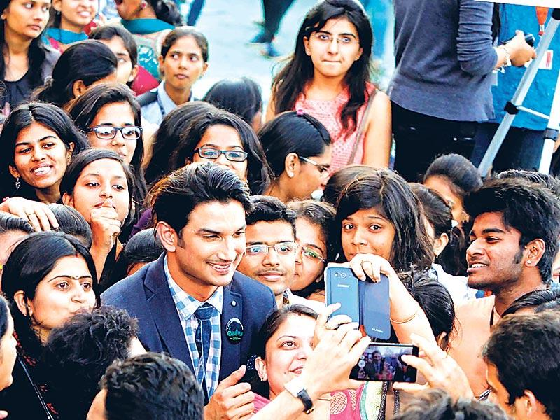 Sushant Singh Rajput at a fashion show with students of a Mumbai college. (Photo: Yogen Shah)