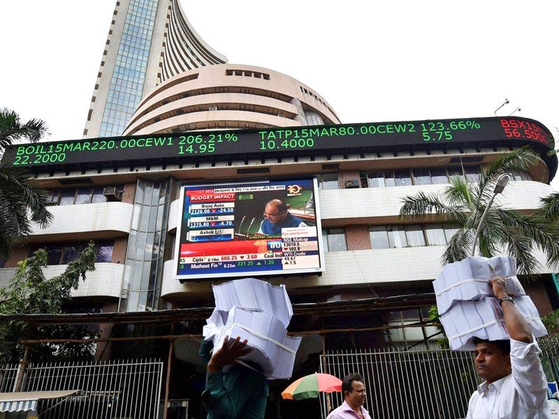 Sensex and Nifty rode a roller-coaster when the budget for 2015 was presented, and they ended the day higher. (PTI photo)