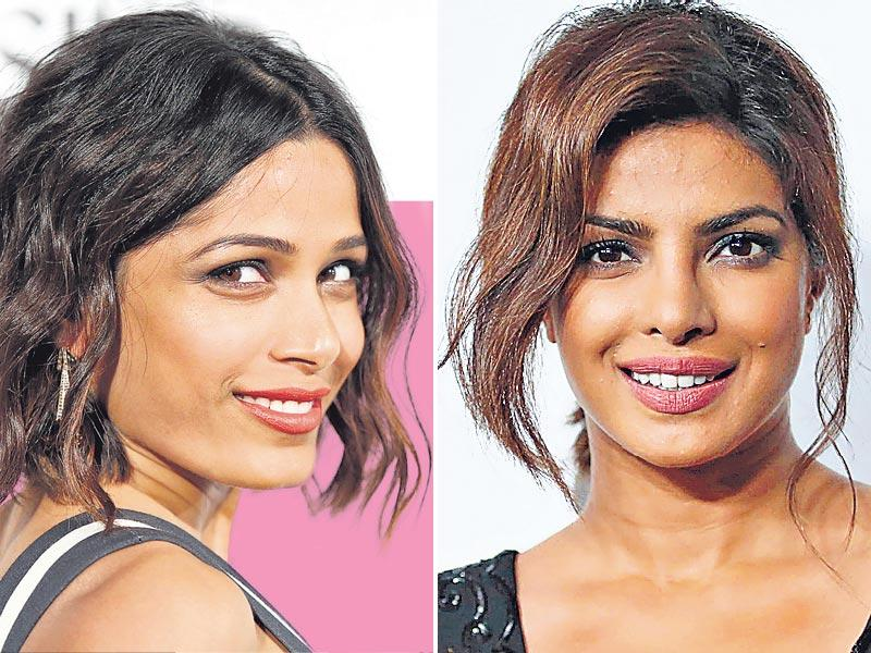 From bed-head and beautifully tousled to romantically unkempt hair - celebs are opting for an under-styled mane to ace the red carpet. (Text: Snigdha Ahuja) Take a cue from Priyanka Chopra (R) and do a ponytail with hair casually flipped down the temple, framing the face lightly. You could also take inspiration from Freida Pinto (L) and use your flat iron to create waves in sections, taking the prim bob on a messy route.
