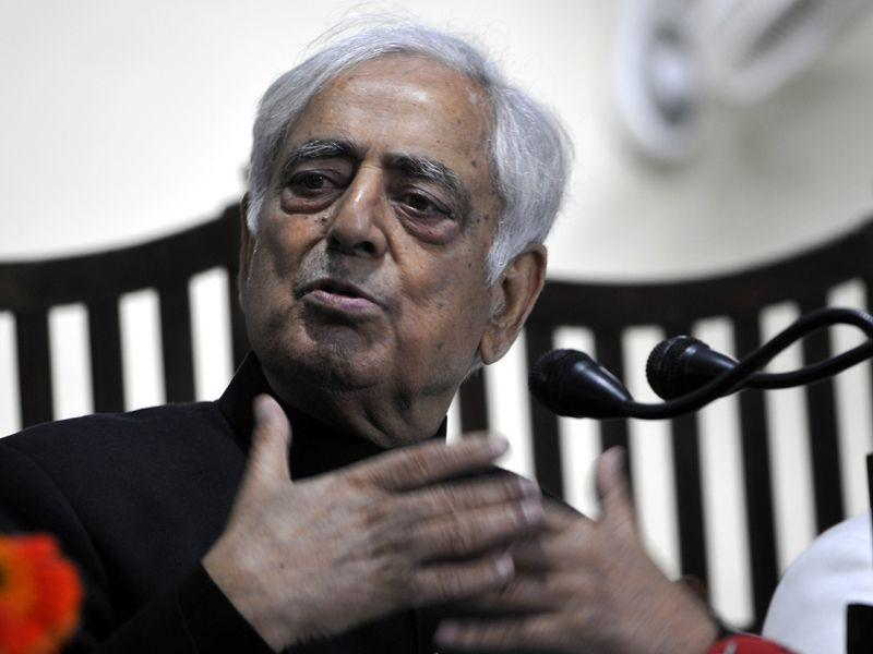 Newly elected CM Mufti Mohammad Sayeed addressing a press conference in Jammu. Nitin Kanotra/HT