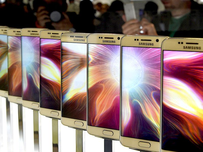 The Samsung Galaxy S6 is presented during the 2015 Mobile World Congress in Barcelona. Photo: AFP