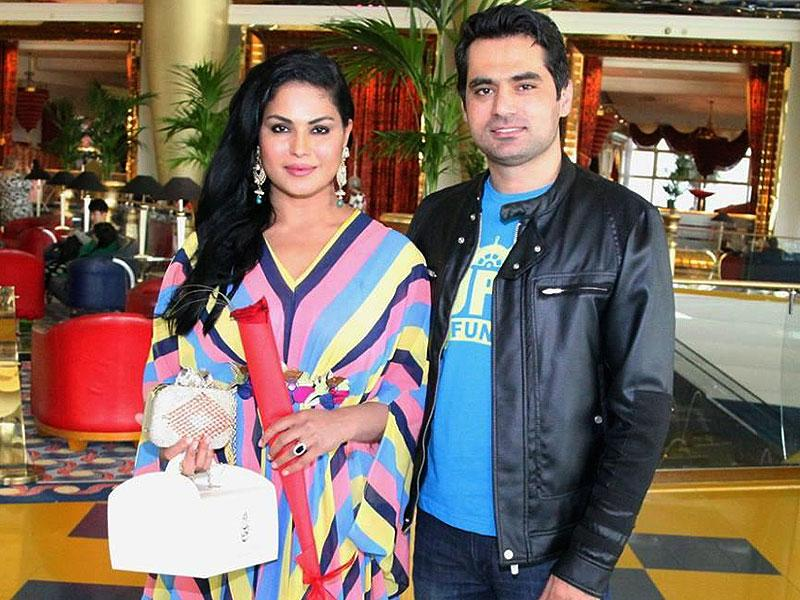 Actor Veena Malik celebrates her 31st birthday with husband Asad Bashir and son Abram at hotel Burj Al Arab in Dubai. (IANS)