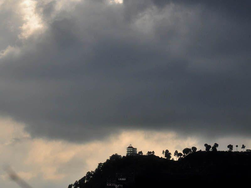 A view of looming clouds in Shimla. Santosh Rawat/HT