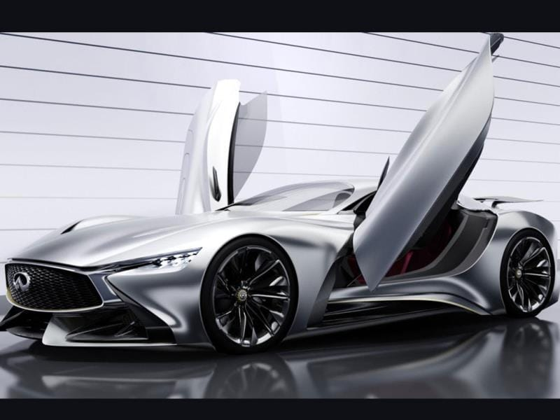 Infiniti Concept Vision Gran Turismo : Infiniti somehow managed to retain its reputation for elegance with its completed car which, the company says is its take on a pure GT car that handles as well on the road as on the track. Photo:AFP