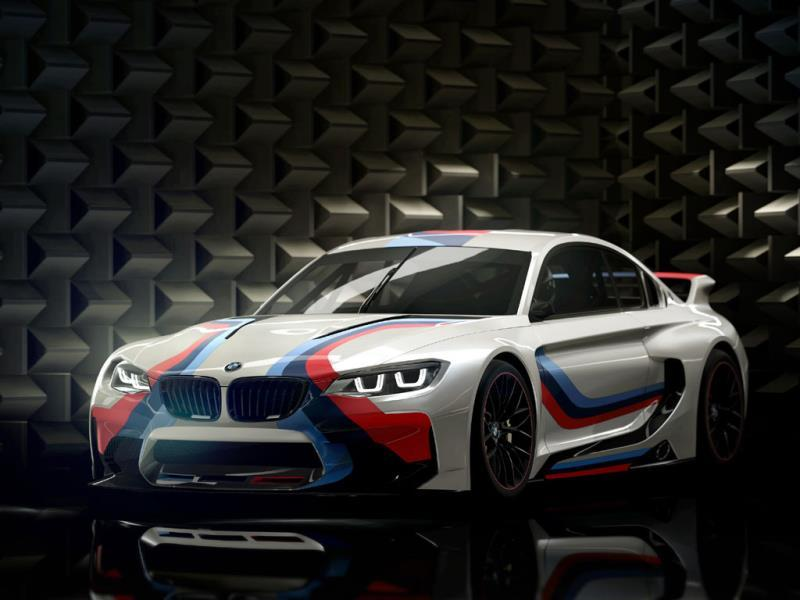 The BMW Vision Gran Turismo : BMW took the job very seriously: the virtual car has a perfect 50:50 weight distribution, it weighs just 1180kg and it uses two turbos to milk 549hp from its in-line six-cylinder engine. Photo:AFP