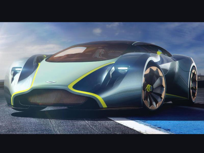 Aston Martin DP-100 vision Gran Turismo concept : This Aston holds a clue as to what future real world cars will look like and has a twin-turbo V12 engine that can deliver 800bhp. In fact its electronics and suspension system are fully functioning in reality as well as in the game. Photo:AFP