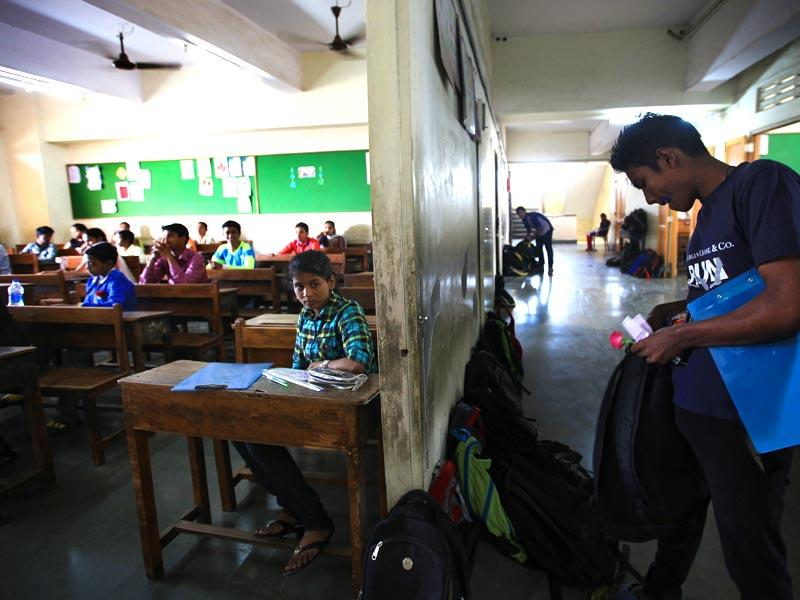 SSC board examinations commenced this week. Students are seen gearing up for their first paper at Mumbai school. (Anshuman Poyrekar/HT photo)