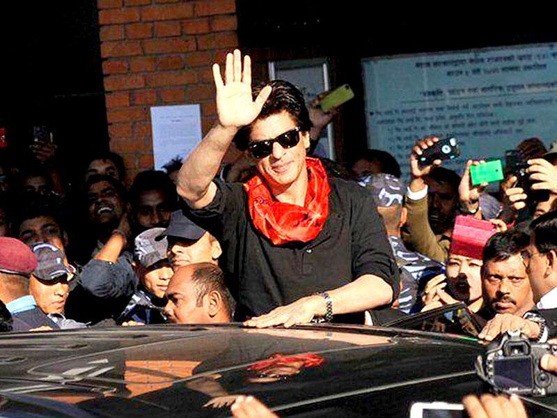 Shah Rukh Khan arrives at Tribhuwan International Airport in Kathmandu, Nepal. (Photo: IANS)