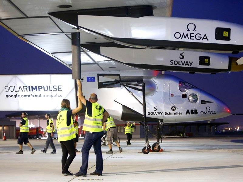 Solar Impulse 2 bids to become the first plane to fly around the world powered solely by the sun. (AFP Photo)