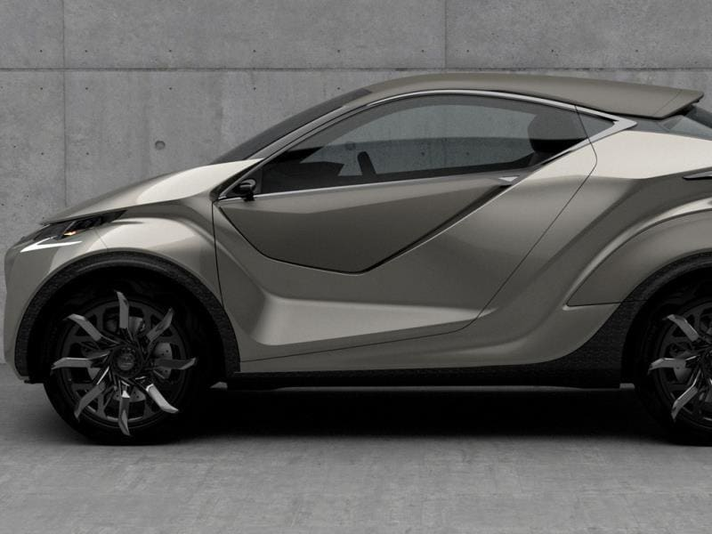 Lexus LF-SA Concept : This car looks like it's been chiselled from a lump of metal by a Cylon from TV show