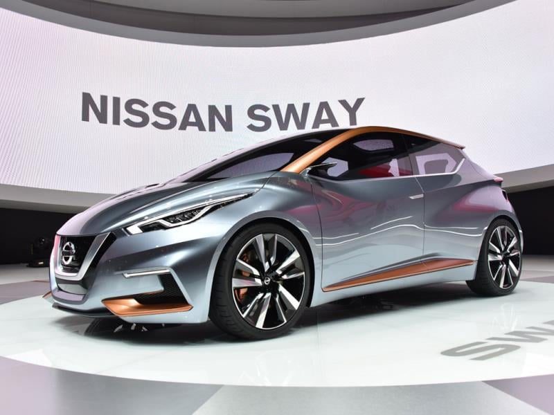 Nissan Sway Concept : The Japanese company has finally called time on the quirky bubbly shape of the Micra and realized that cutting-edge design is something all drivers of all types of car desire. It even makes a Ford Fiesta look old fashioned. Photo:AFP