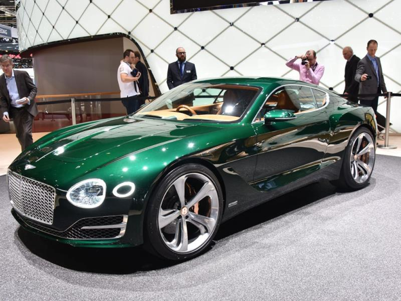 Bentley EXP 10 Speed 6 : Described as the vision for the marque's future, this is a seriously fast, seriously luxurious two-seat coupé and one that, if introduced as a production model, would sit alongside the company's existing range of cars. Photo:AFP
