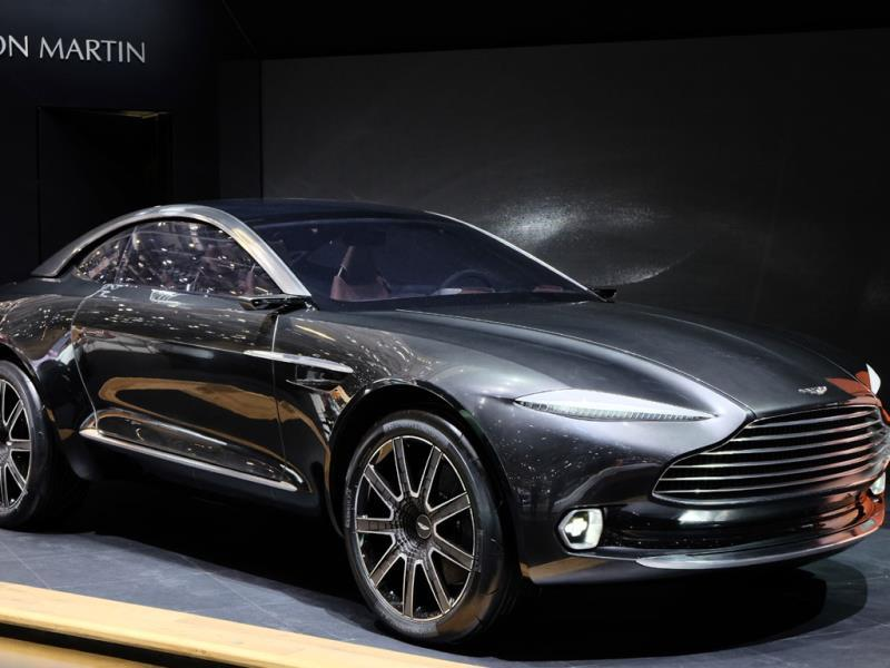 The Aston Martin DBX Concept : One of the very few surprises at this year's show - an Aston Martin that's got four-wheel drive, is a crossover, seats four in comfort, and is propelled forward by batteries, rather than a V12 engine. Company boss Dr Andy Palmer says that part of the idea behind the concept is to make Aston appealing to new types of client, particularly women. Photo:AFP