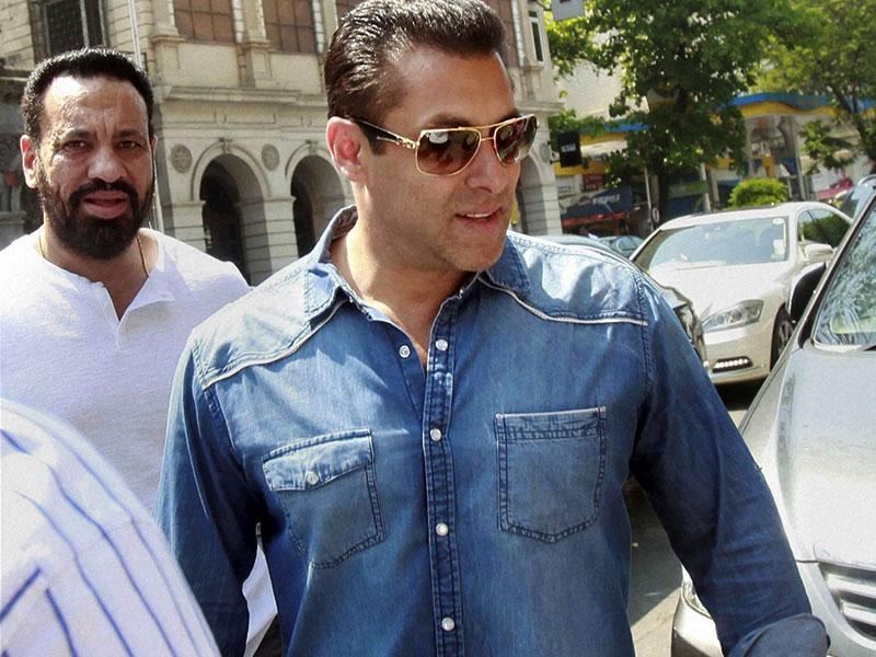 Salman Khan at the sessions court in Mumbai on Thursday in connection with the ongoing 2002 hit and run case. (PTI Photo)