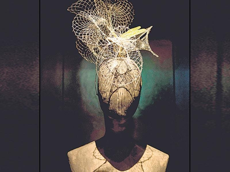A Dragonfly headdress from McQueen's La Dame Bleue Spring Summer 2008 collection.