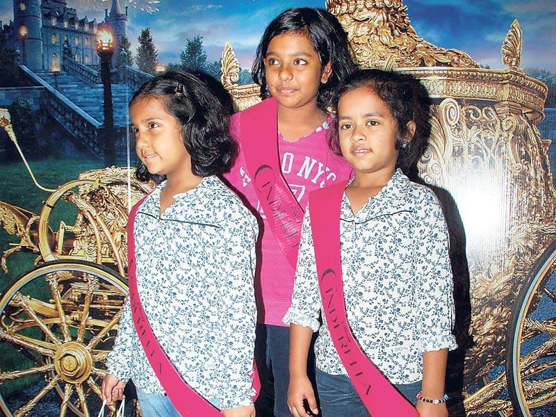 Anurag Basu's daughter Ahana (left) and Ishana (centre) with a relative. (Photo: Viral Bhayani)