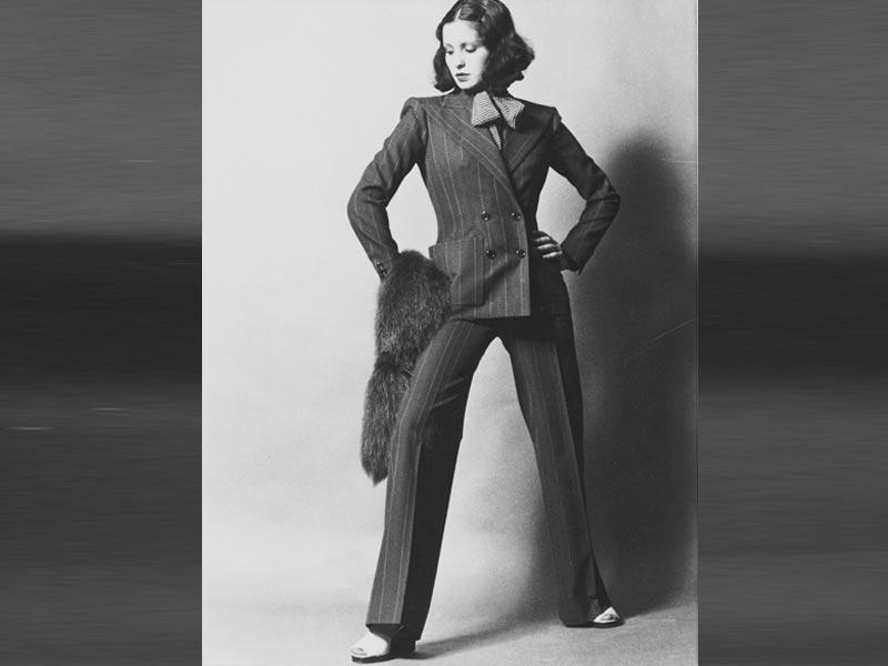 Pantsuit: Haute Couture Spring-Summer 1971 Collection by Yves Saint Laurent (AFP)