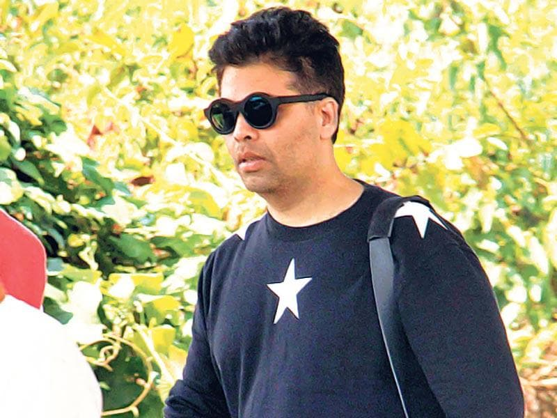 Karan Johar arrives at Aamir Khan's place for the actor's birthday celebrations. (Photo: Yogen Shah)