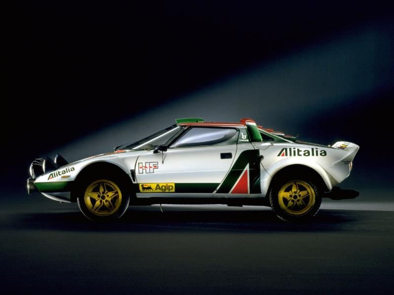 Lancia Stratos (1973-1978) : This car gave fans hope that being bought by Fiat was a good thing. The car was styled by Bertone, looked like something from another planet, blitzed the field in rallying in 1974, 75 and 76and had the same V6 engine found in the Ferrari Dino mounted mid-ships. A road-going version was also built and it is still one of the most highly sought classic Lancias. Photo:AFP