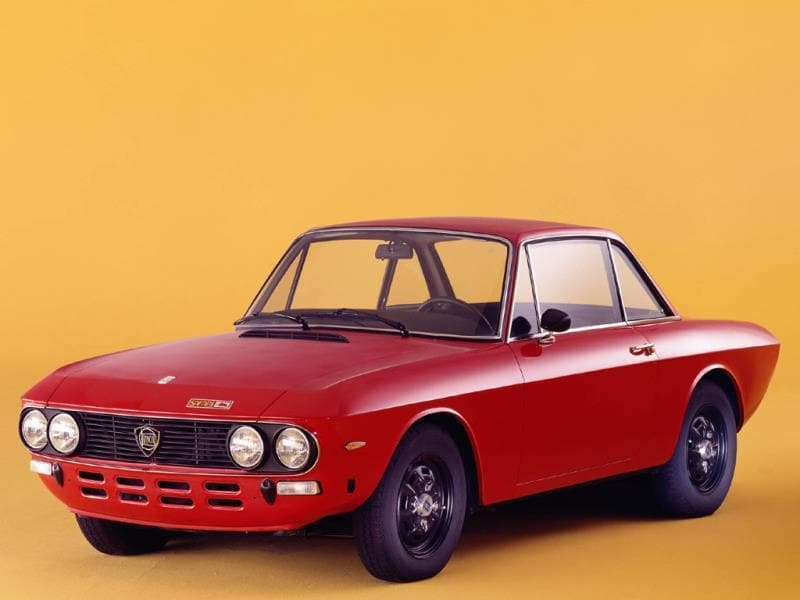 The Fulvia (1963-1972) : Pictured here in Coupe Safari edition form, this car also came as a four-door, or a Zagato-built 'fastback' and was a phenomenal feat of precision engineering. Front-wheel drive, an ingenious narrow angle V4 motor and use of aluminum in the block, the Fulvia won the International rally championships in 1972. Photo:AFP