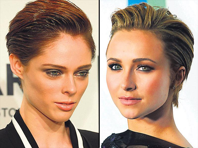 Hayden Panettierre and Coco Rocha's slicked back: Nothing speaks fierce like a slicked, glossy look. If you have wavy hair, start by straightening out your mane and quickening the process by dividing the hair into sections. Now, use a pomade, hair wax or gel that you have pre-tested to get the sharp look.