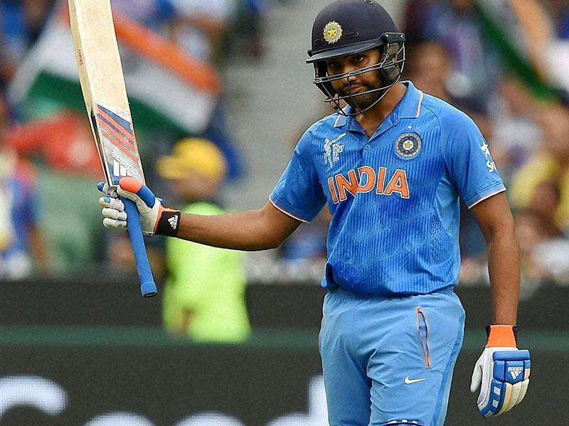 India's Rohit Sharma in action against Bangladesh during their 2015 World Cup quarter-final match in Melbourne. (AP Photo)