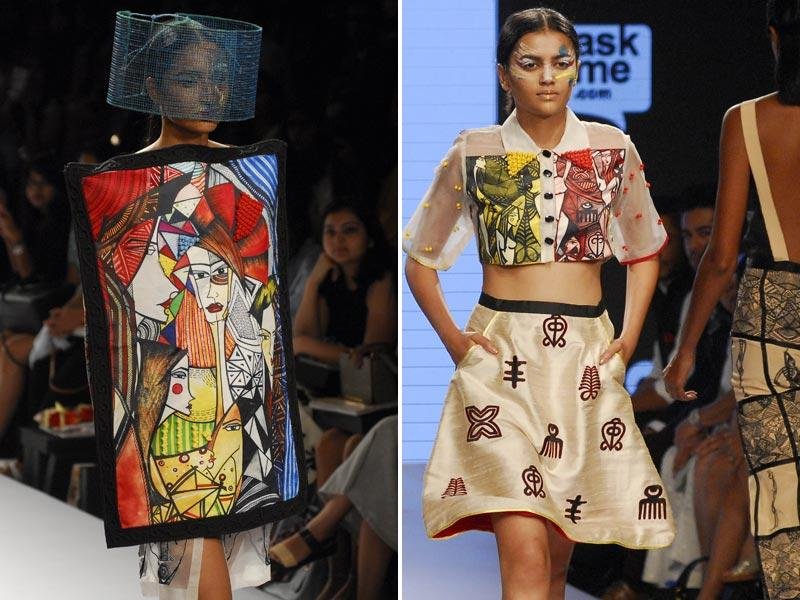 Crazy headwear ruled the Gen Next show at LFW on Wednesday. (HT Photo/Prodip Guha)