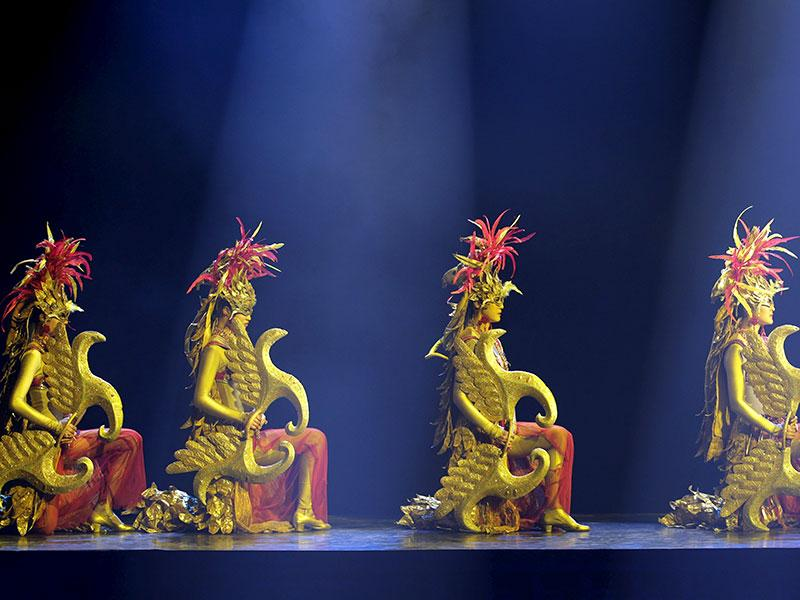 Dancers perform at the show in Beijing. (Reuters Photo)