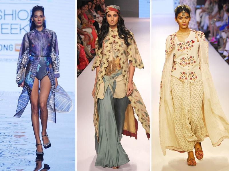 While jackets and overcoats are essentially winter staples, LFW proved that these are primed to become trends this summer season as well.