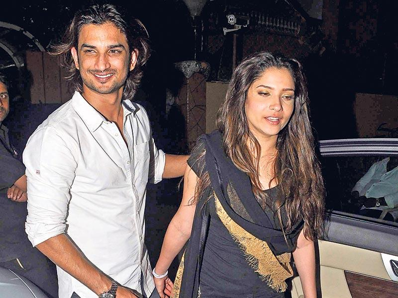 Sushant Singh Rajput and Ankita Lokhande arrive at the birthday party of producer Karim Morani. (Photo: Viral Bhayani)