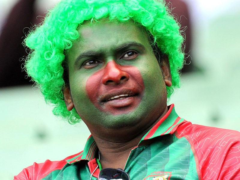 A young fan of Bangladesh's cricket team wears a tiger outfit before their Cricket World Cup match against Sri Lanka in Melbourne, February 26, 2015.  REUTERS