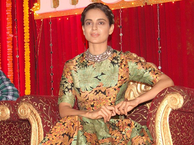 Kangana Ranaut during a poster launch for Tanu Weds Manu Returns. (Photo: IANS)