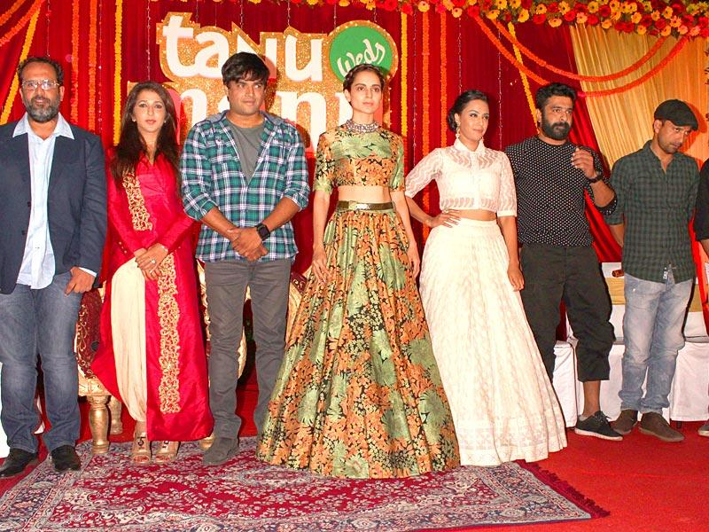Kangana Ranaut and R Madhavan during a programme organised to promote Tanu Weds Manu Returns in New Delhi. (Photo: IANS)