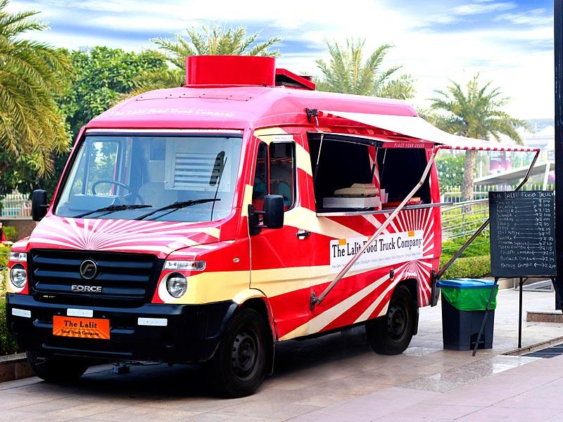 MEXICAN MUNCHIES: The Lalit Food Truck serves Mexican fare such as churros and tortillas. Kapil Vig, asst manager, F&B says,