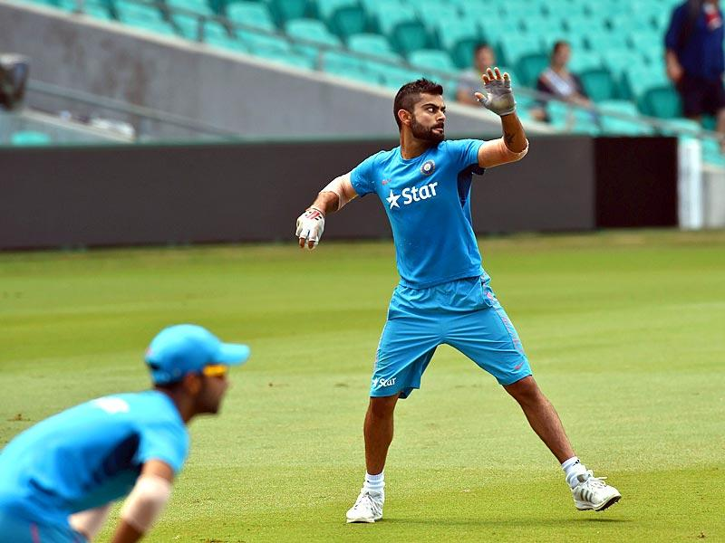 Virat Kohli takes part in a practice session in Sydney. (AFP Photo)
