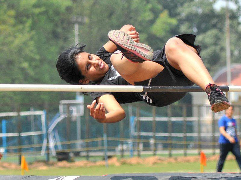 Students participating in annual athletic meet at Panjab University in Chandigarh. Keshav Singh/HT