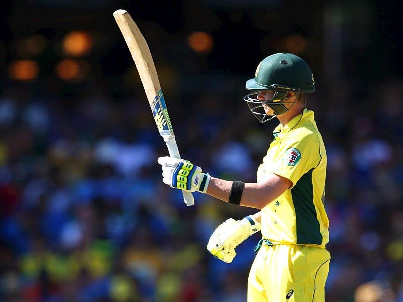 Australia's Steve Smith scored a brilliant 50 in the Cricket World Cup semi-final match against India in Sydney, March 26, 2015. REUTERS