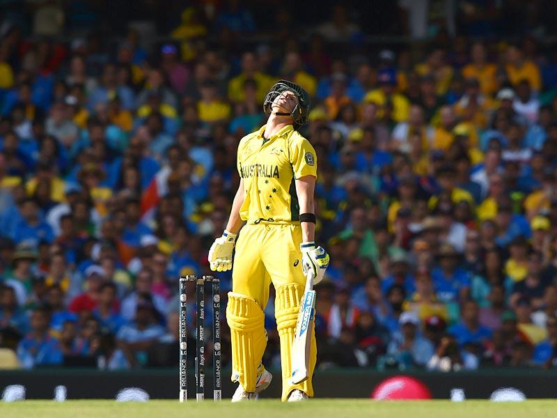 Australia vs India live: Steven Smith reacts to a missed boundary during the 2015 Cricket World Cup semi-final match between Australia and India in Sydney on March 26, 2015. AFP PHOTO
