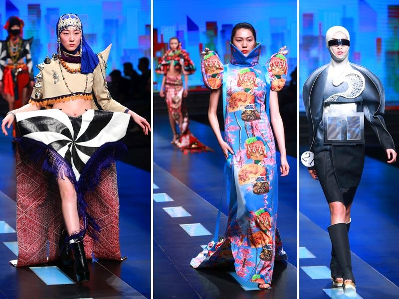 It's clear: Aliens and sci-fi have greatly inspired designers at China Fashion Week. (AFP)