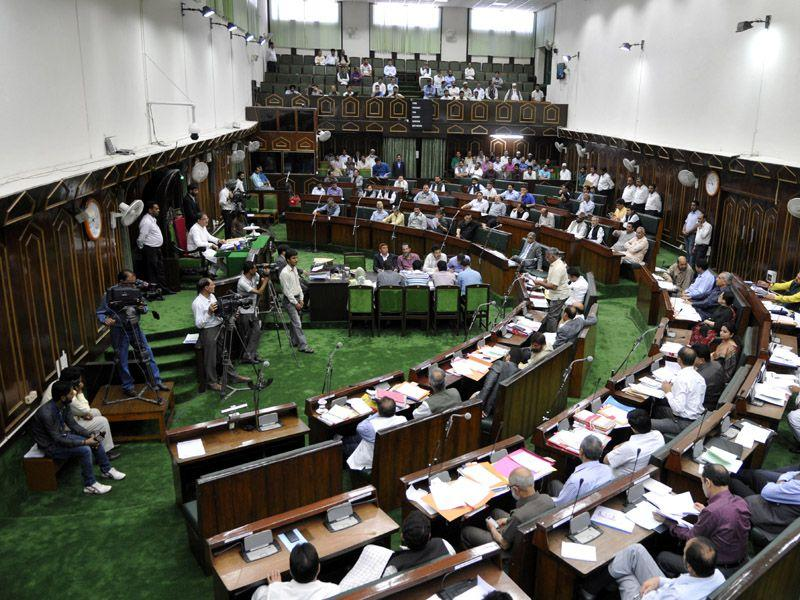 View of on going budget session in Jammu and Kashmir assembly. Nitin Kanotra/HT