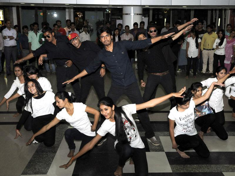 Members of Young India group present street play as part of celebrations on the eve of Earth Hour, in Indore on Friday. (Shankar Mourya/HT photo)