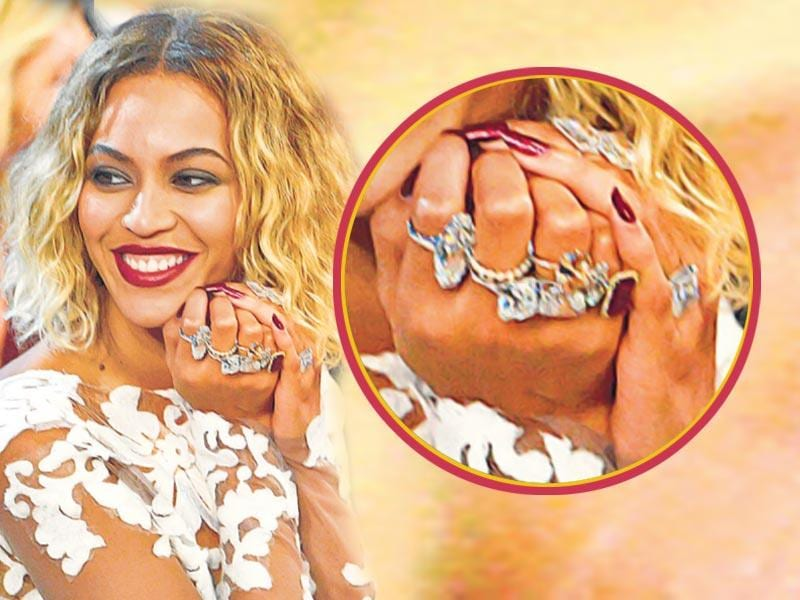 Beyonce: Singer Beyoncé in the past rocked the Grammys with a handful of diamond rings.