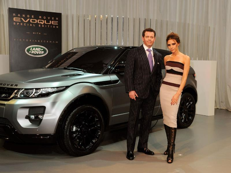 Victoria Beckham knows a thing or two about crossovers : Likewise, this is not Land Rover's first dalliance with the catwalk. The company turned to, among others, Victoria Beckham when developing its first 'crossover' SUV, the Evoque, hiring her as a creative design executive in 2010. In 2012, the company launched a special Victoria Beckham limited edition, which she said was inspired by her husband. The first Land Rover to come with a matte exterior finish, the car featured leather wrapped sports seats, rose gold accents as well as mohair, dark wood veneers and a four-piece luggage set. Photo:AFP