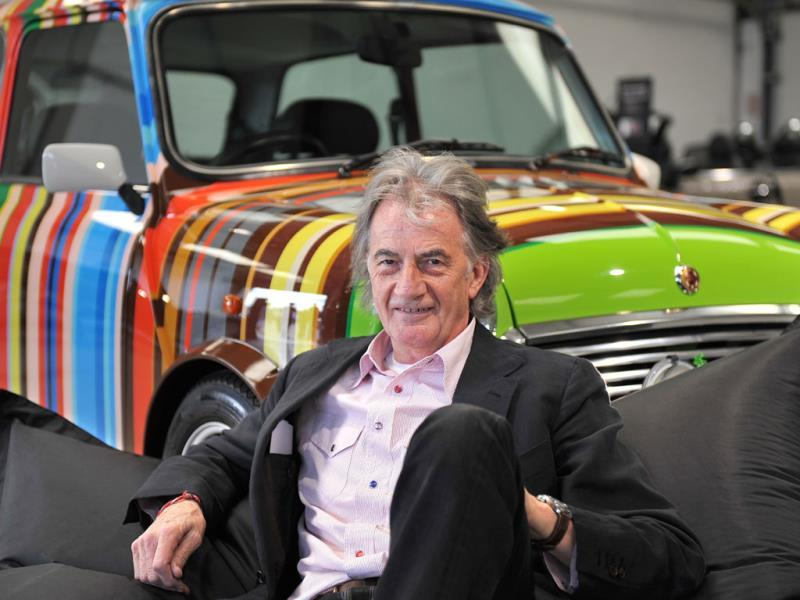 Paul Smith's one-off Mini... : Before that he struck up a partnership with Mini, which saw the creation of a similarly multi-stripe -- 86 different hues to be exact -- one-off, unveiled at the 1997 Tokyo motor show. The car has since become a recurring image in Smith's own designs, adorning t-shirts, keyrings and bags in his diffusion and accessories ranges. Photo:AFP