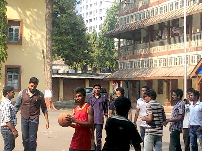 Shooting for the next schedule of Umesh Shukla's All is Well, Abhishek Bachchan plays with basketball kids.