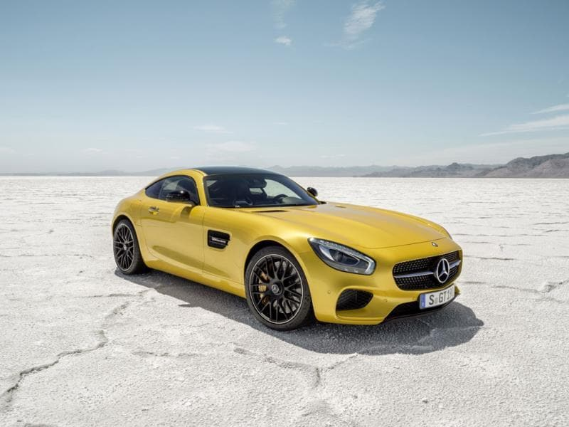 The Mercedes AMG-GT S : Like the McLaren, the latest Mercedes muscle car has been built to take on Porsche in terms of performance but to offer the refinement one expects from a Mercedes in terms of ride and creature comforts. Its front-to-mid mounted 4-liter bi-turbo V8 engine drives the rear wheels and can develop 503bhp, meaning a 0-100km/h time of 3.8 seconds and a top speed of 193mph (310km/h). However, a hotter, faster model is currently in development. Photo:AFP