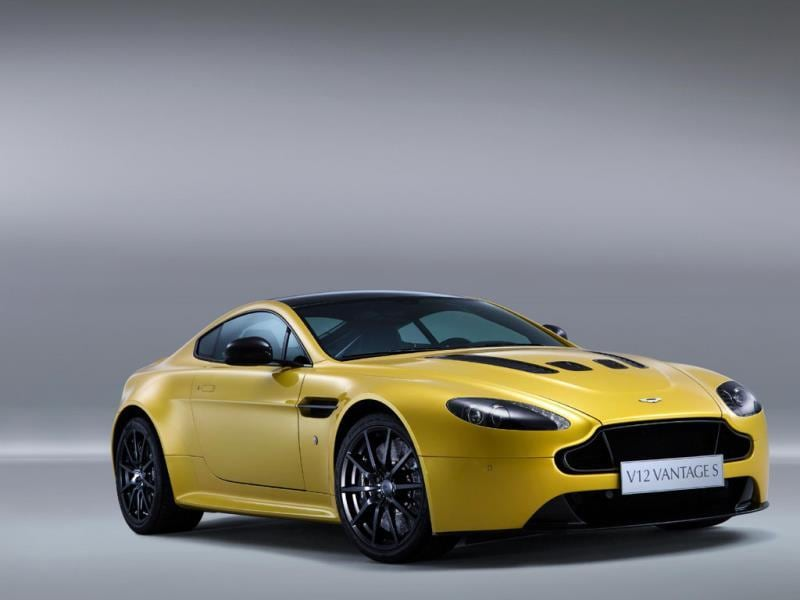 The Aston Martin V12 Vantage S : This is the fastest production Aston Martin in history thanks to its front-mounted 5.9-liter V12 engine that delivers 565bhp. It enables the car to hit the same top speed as the Audi - 205mph - however, it's slower off the line than any of its competitors - 0-100km/h in 3.9 seconds and a bit more of a brute to live with, too. Photo:AFP