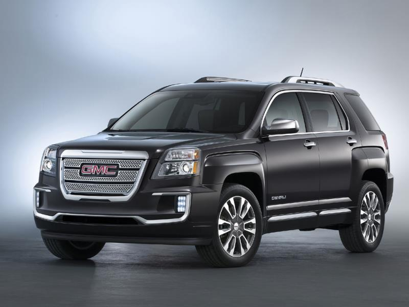 2016 GMC Terrain Denali : The car boasts 14 new or revised features and options for 2016 including a new front and rear fascia, a better dashboard and instrument panel. GMC claims that the Terrain is its most popular compact crossover with female drivers - 44% of sales are to women and the number one reason for buying is its exterior styling. Photo:AFP