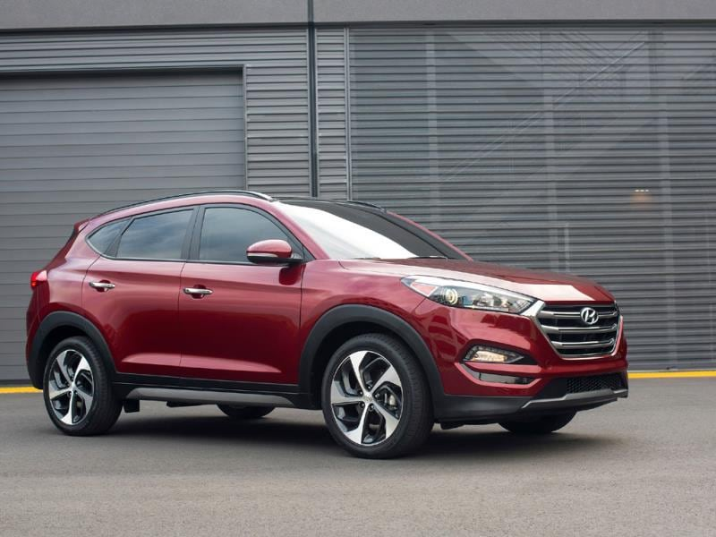 2016 Hyundai Tucson : This is officially a crossover rather than a true off-roader but a very well packaged and proportioned one thanks to a high waistline but low roof and short overhangs. Hyundai has focused on fuel efficiency and on improving cabin materials and connectivity - it gets a 5-inch touch screen with reversing camera as standard. Photo:AFP